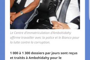 Capture d'écran d'un article sur le permis biométrique dans un journal local